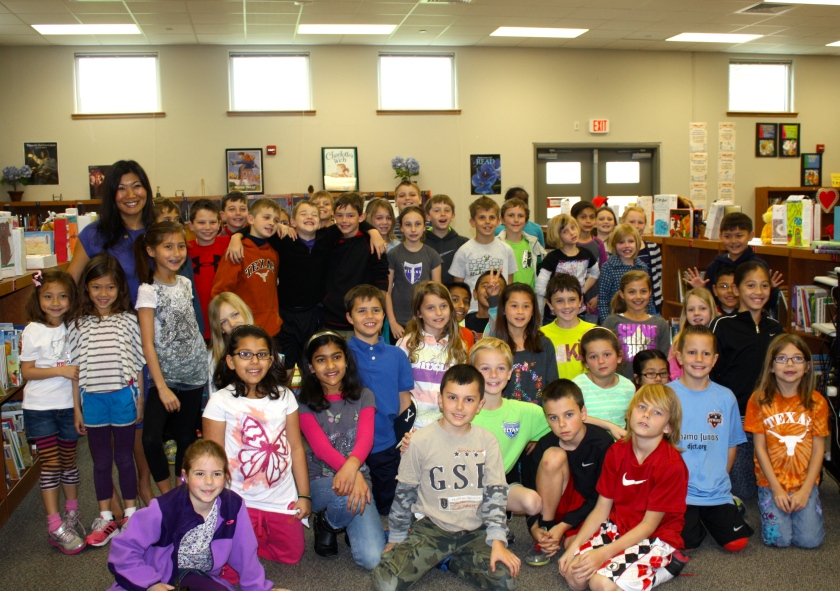 This is me with my daughters and the third graders.